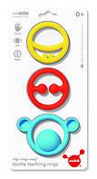Игрушка-прорезыватель Moluk Nigi+Nagi+Nogi (яркие цвета, 3 шт в уп.), фото 1