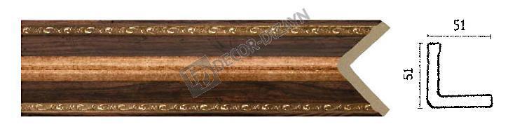 Угловой молдинг Арт-Багет 142-1084, интерьерный декор.
