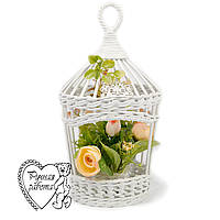 Плетені клітка для квітів, квітковий клітка, клітка з квітами, на весілля, на фотосесію. Ручна робота.