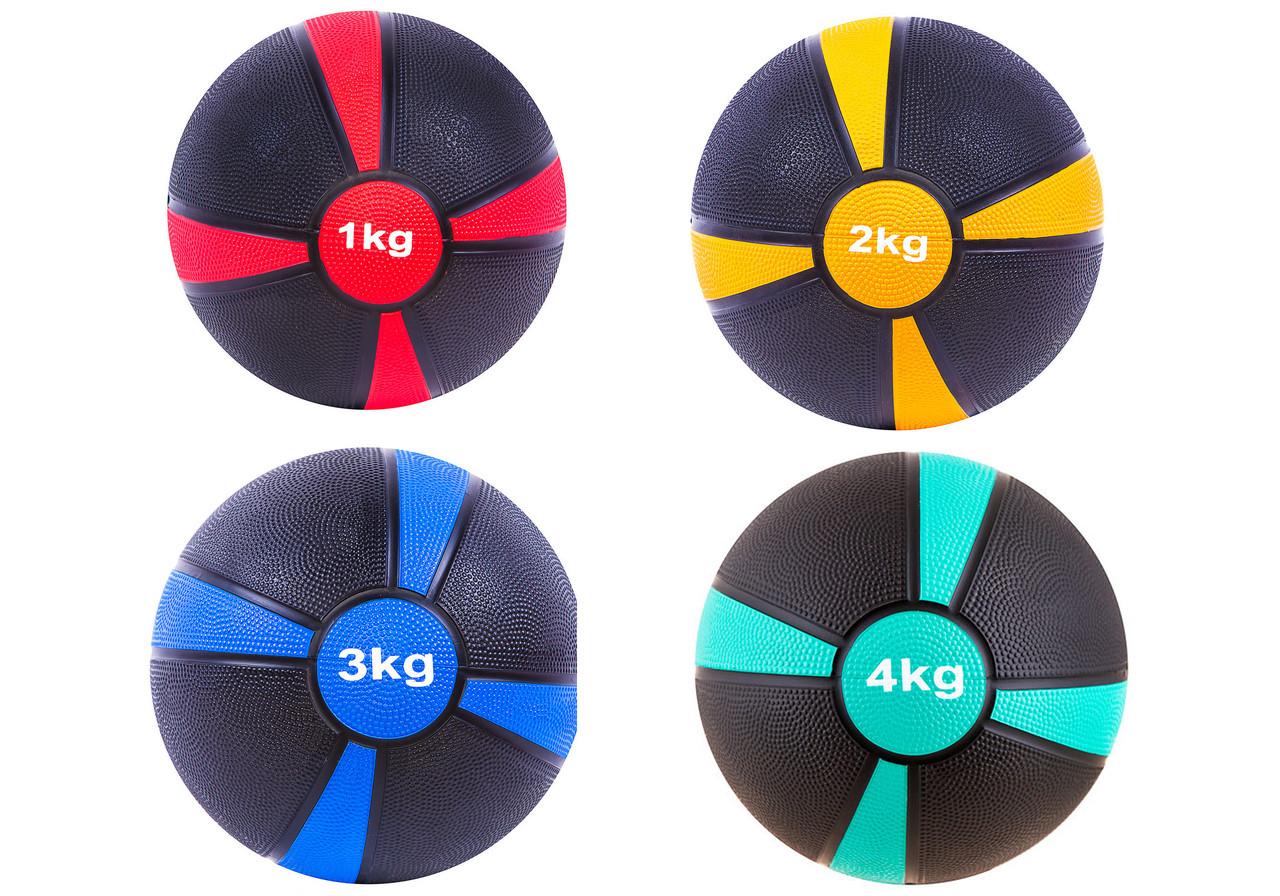 Медбол WS с отскоком 1-4 кг