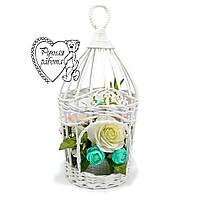 Плетені клітка для квітів, квітковий клітка, клітка з квітами, на весілля, на фотосесію. Під замовлення.