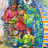 Двенадцать месяцев 10787-13, павлопосадский платок (атлас) шелковый с подрубкой, фото 6