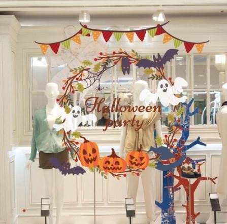 """Наклейка для Halloween """"Тыковки"""" - размер наклейки 50*70см"""