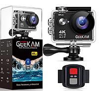 Экшн камера Geekam S9R Pro 4K WI-FI + Пульт, фото 1