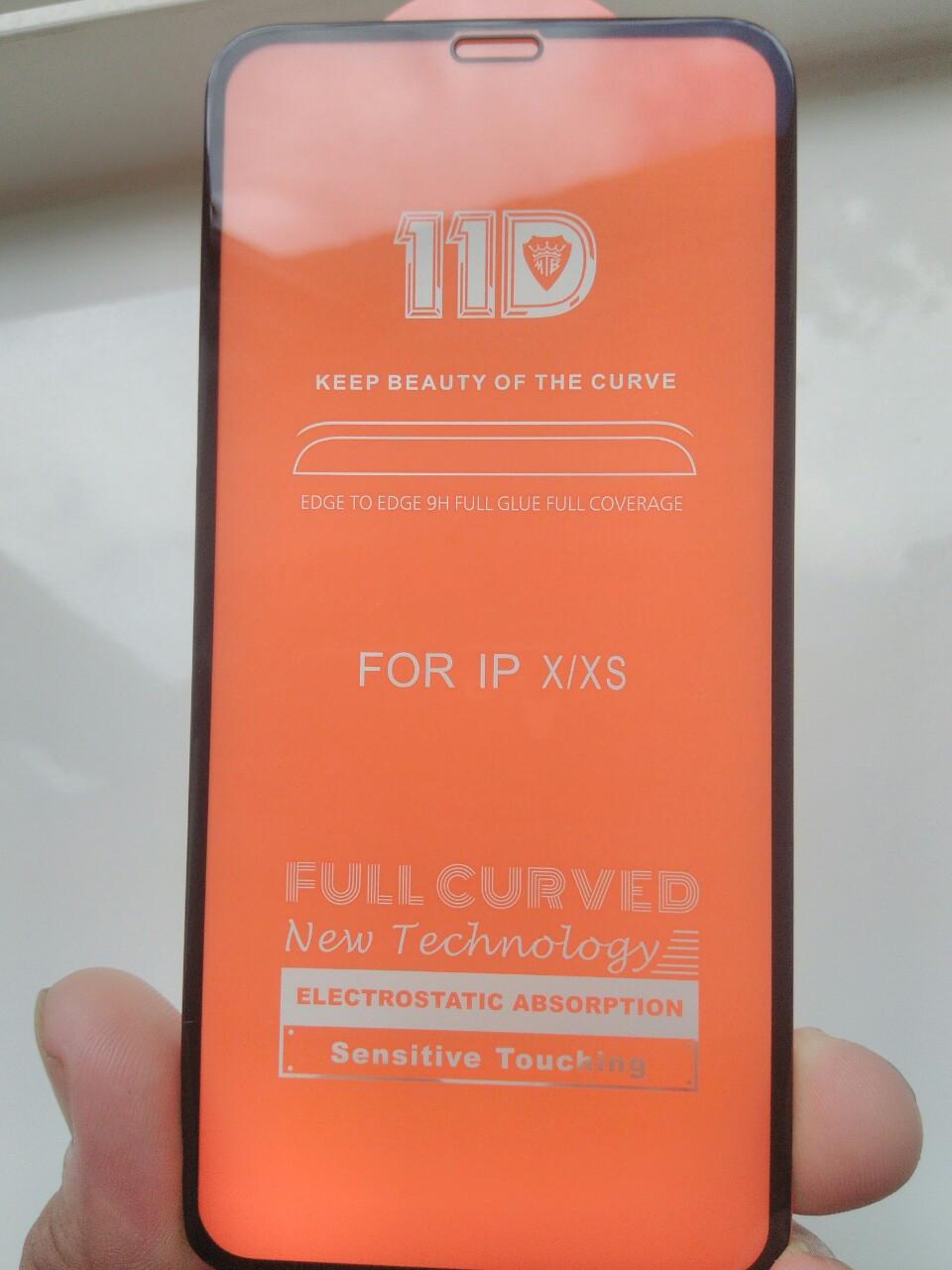 Защитное 11D  стекло   iPhone  11 Pro 2019 /// X / XS 5.8   (черн.)