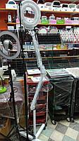 Лампа лупа напольная на колесиках для косметолога, визажиста, мастера маникюра, высота 1.9м, фото 1