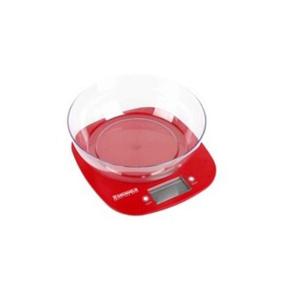 Grunhelm KES-1PR Весы кухонные с чашей (красные)
