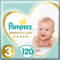 Подгузники Pampers Premium Care Dry Max Midi 3 (6-10 кг) Mega Pack 120 шт.