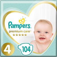 Підгузники дитячі Pampers Premium Care Dry Max Maxi 4 (9-14 кг) Mega Pack 104 шт, фото 1