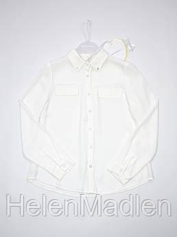 Блуза To Be Too детская с длинными рукавами белая 134 см Италия
