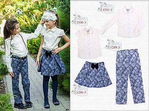 Школьная блузка для девочки Школьная форма для девочек MONE Украина 1551-1
