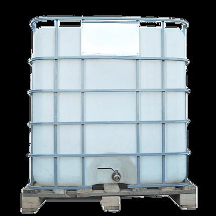Емкость квадратная в решетке с металлическим краном 1000 л Еврокуб, фото 2