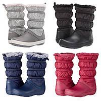 Сапоги зимние женские непромокаемые дутики Crocs Women's Crocband Winter Boot