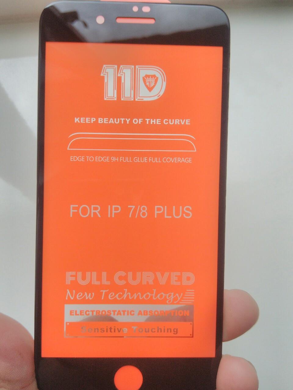 Защитное 11D  стекло Full Glue  iPhone  7 plus / 8 plus (черн.)