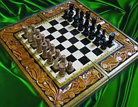Шахматы резьба по дереву