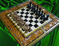 Шахи різьба по дереву