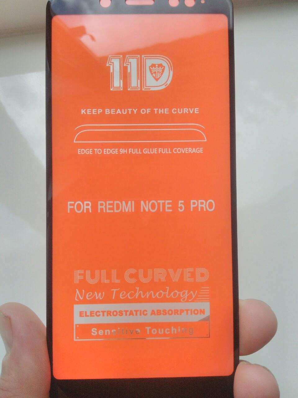 Защитное стекло  11D  Xiaomi Redmi Note 5/  Note 5 Pro (черн.)