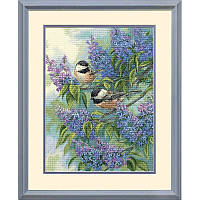Набор для вышивания Dimensions 35258 Chickadees and Lilacs Cross Stitch Kit