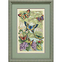 Набор для вышивания Dimensions 35223 Butterfly Forest Cross Stitch Kit, фото 1