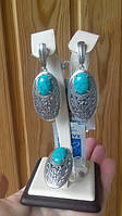 Шикарный серебряный комплект с бирюзой
