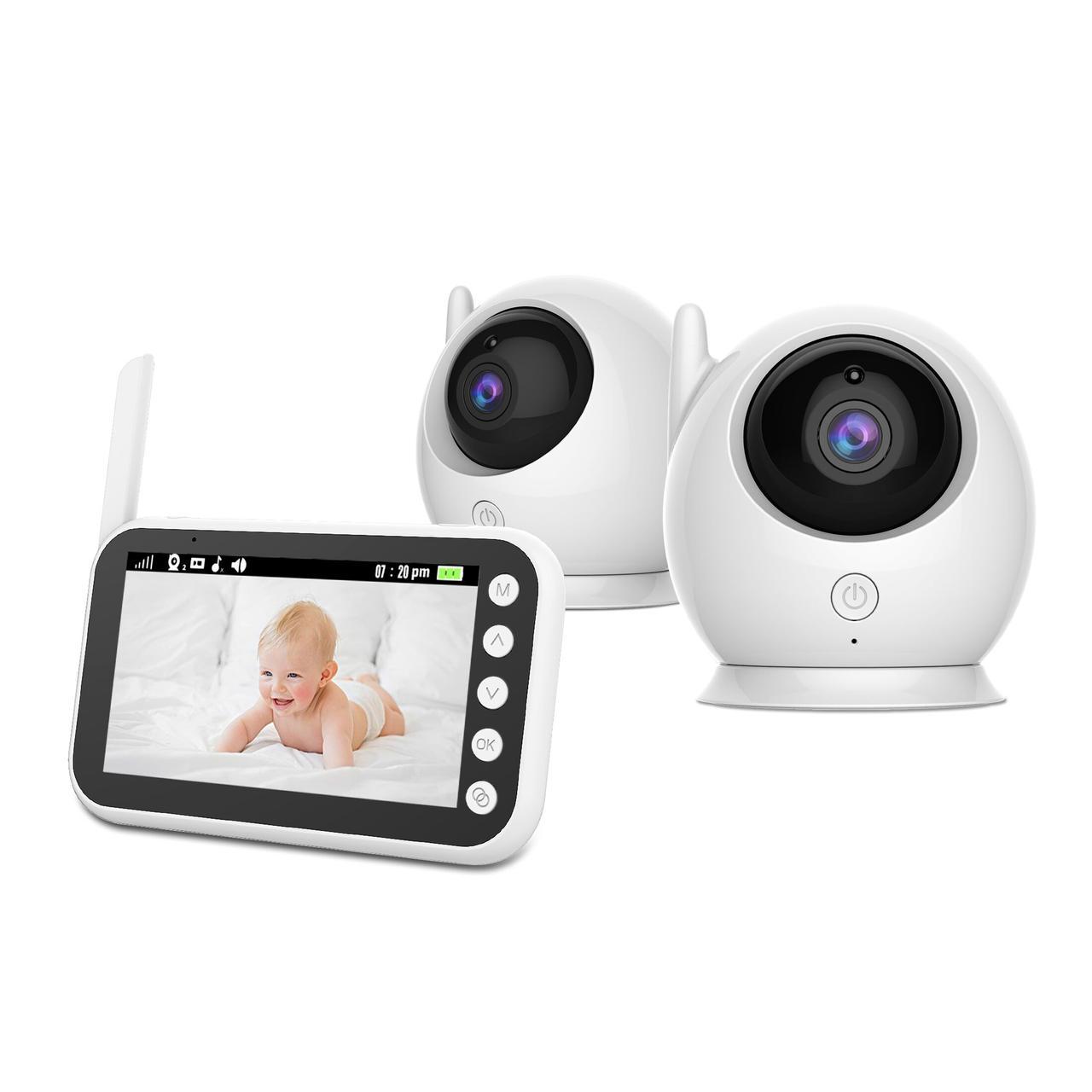 Видеоняня Baby Boom 100 - 2 in 1, с двумя камерами комплекте и экраном 4,3 дюйма