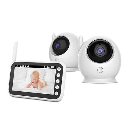Видеоняня Baby Boom 100 - 2 in 1, с двумя камерами комплекте и экраном 4,3 дюйма, фото 2