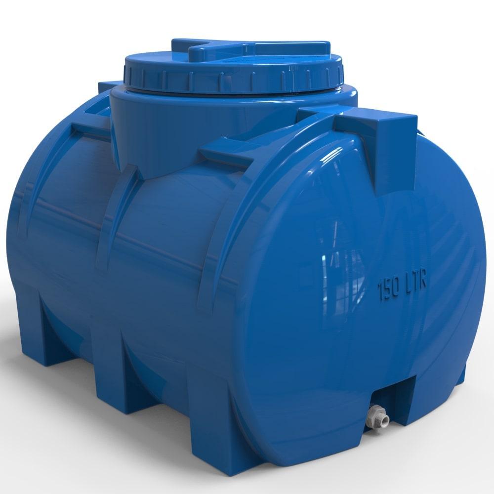 Пластикова горизонтальна ємність для води 150 л стандартна