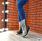 Демисезонные женские сапоги цвета никель, натуральная кожа 36 41 ПОСЛЕДНИЕ РАЗМЕРЫ, фото 3