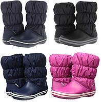 Сапоги зимние женские непромокаемые дутики Crocs Women's Winter Puff Boot