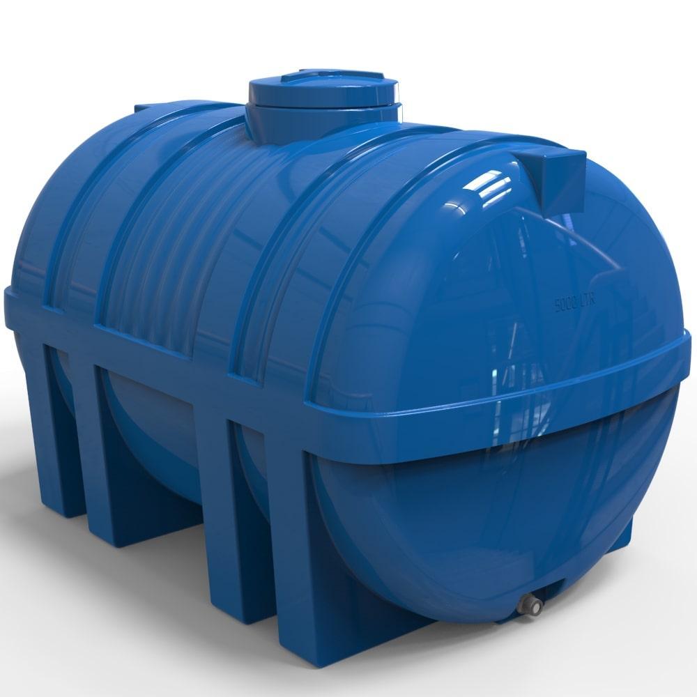 Емкость для воды пластиковая горизонтальная 5000 л