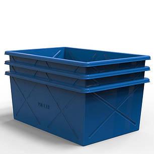 Контейнер пластиковый прямоугольный 350 литров, фото 2