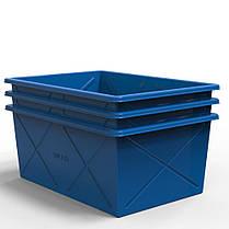 Пластиковий контейнер великий 500 літрів, фото 3