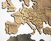 Карта мира на стену с фанеры тонированая, фото 3