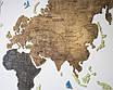 Карта мира на стену с фанеры тонированая, фото 2