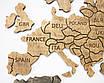 Карта мира на стену с фанеры тонированая, фото 6