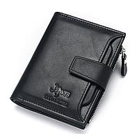 Мужской черный кошелек, фото 1