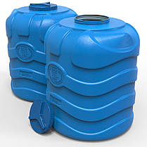Бочка для воды вертикальная трехслойная синяя 750 л, фото 2