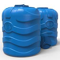 Бочка для воды вертикальная трехслойная синяя 750 л, фото 3