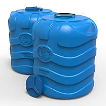 Емкость для воды 1000 л вертикальная трехслойная синяя, фото 2