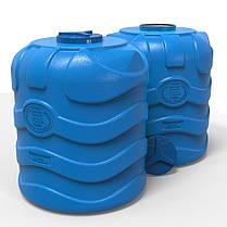 Емкость для воды 1000 л вертикальная трехслойная синяя, фото 3
