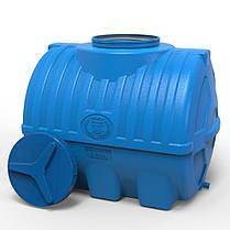 Емкость для воды горизонтальная 300 л трехслойная синяя, фото 2
