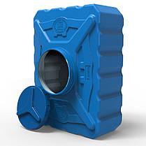Емкость пластиковая квадратная 200 л трёхслойная синяя, фото 2