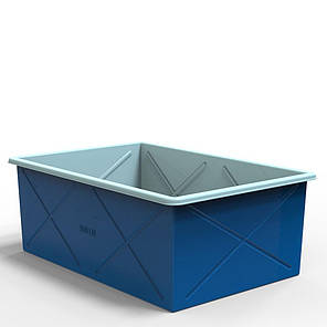 Контейнер двухслойный пластиковый 1000 литров, фото 2