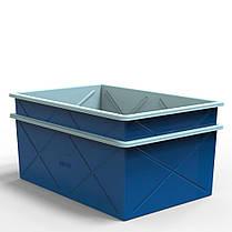 Контейнер двухслойный пластиковый 1000 литров, фото 3