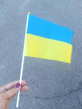 Флаг Украины нейлон (20х15см) 12шт