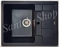 Кухонная мойка из искусственного камня Haiba HB 8210 Black (620*500*200)