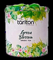 Чай зелений з пелюстками троянд Тарлтон Зелений Світанок 100 г у жерстяній банці
