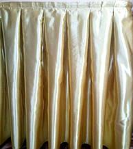 Фуршетная юбка атлас плотный  , Светлое Золото.