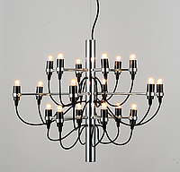 Люстра подвесная Е14 ЛОФТ 18 ламп, металл черный