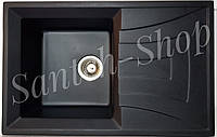 Кухонная мойка из искусственного камня Haiba HB 8104 Black (780*500*200)